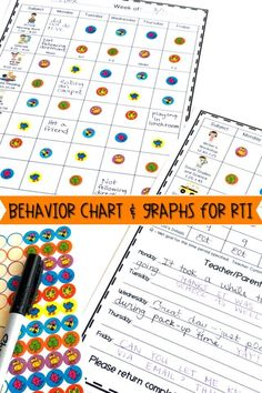 The Individual Student Behavior Chart is perfect to use as a classroom management tool for Special Education and RTI - Response To Intervention. Teachers can use the editable template to best fit the needs of their student. The chart provides a school and home connection by providing daily communication with parents. Use this chart in your Pre-K, Kindergarten, First Grade, Second Grade, or Third Grade classroom. Adaptable for upper elementary. Encourage self-assessment and motivate your student!