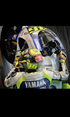 Valentino Rossi at phillip island tests 2014 Love his helmet design so much!
