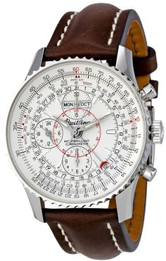 Breitling Men's A2133012/G518BRLT Silver Dial Montbrilliant Datora Watch, by Zoom Photo