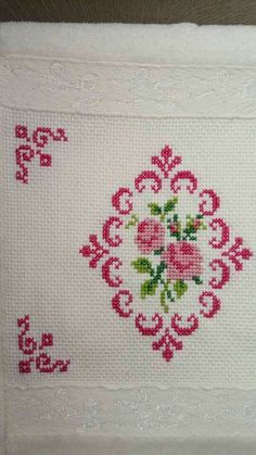 Erika sch's media content and analytics Baby Cross Stitch Patterns, Cross Stitch Borders, Cross Stitch Rose, Cross Stitch Flowers, Baby Knitting Patterns, Cross Stitch Designs, Cross Stitching, Basic Embroidery Stitches, Hand Embroidery Designs