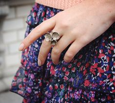 flower ring on floral