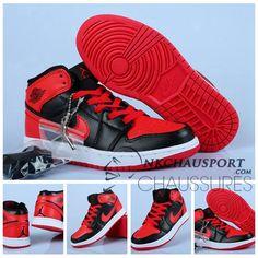 Nike Air Jordan 1 | Classique Chaussure De Basket Homme Rouge Noir