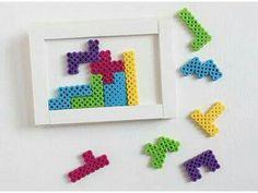 Tetris aus Bügelperlen
