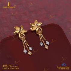 Get In Touch With us on Gold Jhumka Earrings, Indian Jewelry Earrings, Jewelry Design Earrings, Gold Earrings Designs, Gold Mangalsutra, India Jewelry, Necklace Designs, Diamond Earrings, Jewelry Accessories