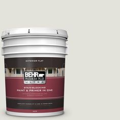 BEHR Premium Plus Ultra Home Decorators Collection 5-gal. #hdc-NT-24 Glacier Valley Flat Exterior Paint