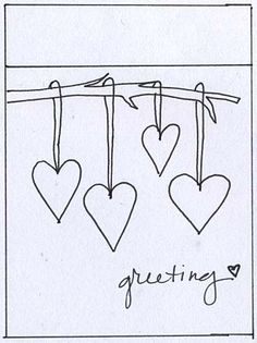 simple card - even with my limited drawing ability, I could do this!