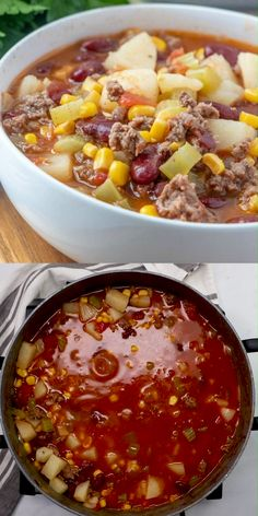Easy vegetable soup with ground beef combines tender vegetables and savory ground beef in a flavorful broth to get mouthwatering hamburger soup, packed with protein, vitamins, and minerals. Slow Cooker Soup, Slow Cooker Recipes, Crockpot Recipes, Cooking Recipes, Slow Cooking, Oven Recipes, Goulash Recipes, Venison Recipes, Crock Pot Soup
