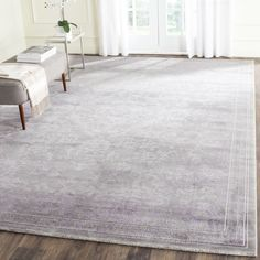 Safavieh Passion Grey/ Lavender Rug (5'1 x 7'7)