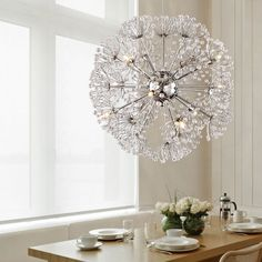 Ceiling Lights & Fans European Simple Living Room American Restaurant Aisle Creative Light Led Dandelion Crystal Ceiling Lamp Restaurant Lustre Lamp
