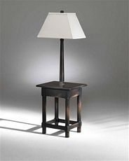 """Sedgefield F-8006B-8006 Cassidy 56"""" Black Solid Wood Floor Lamp w/ Table   Lighting by Lux"""