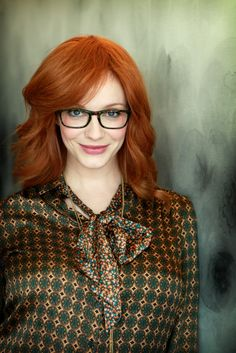 People women redhead blue eyes face glasses women with glasses long hair Christina Hendricks Christina Hendricks, Cristina Hendrix, Shades Of Red Hair, 50 Shades, Hottest Redheads, Beautiful Redhead, Celebrity Hairstyles, American Women, Eye Color