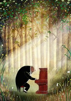 "tinkerd: ""THE BEAR AND THE PIANO"