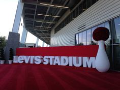 Levi's Stadium Sign Logo Letters- hot wired, coated and painted by WeCutFoam Home of the 49ers