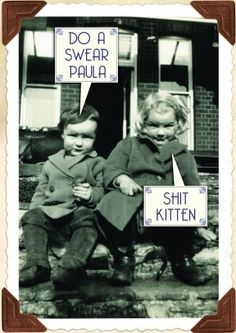 Shit Kitten| Rude General Card   A hilariously rude card, perfect for a friend or family member, with a rude sense of humour. Can be used for a Birthday, anniverary or friendship card.