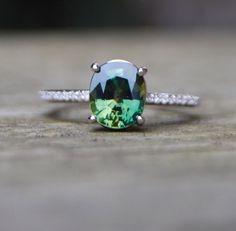 »Green #Sapphire #Diamond #Ring 14k white gold от #EidelPrecious« #wedding #weddinginspiration #jewelry