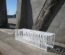 Public bench / original design / galvanized steel