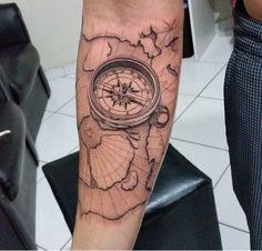 bússola ante braço | Tatuagem.com (tatuagens, tattoo)