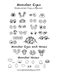 ART LESSON: HOW TO DRAW MONSTERS - TeachersPayTeachers.com                                                                                                                                                                                 More