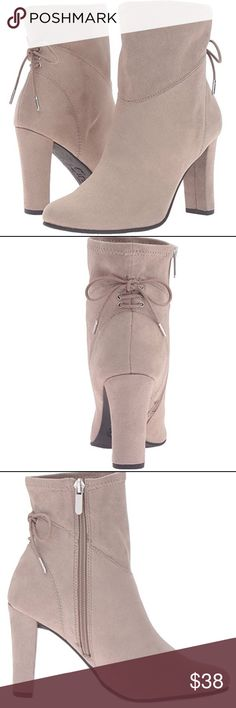 """NWT Stretch Microsuede Sam Edelman Ankle Bootie Stretch Microsuede Imported Synthetic sole Heel measures approximately 3"""" Platform measures approximately 0.25 inches Side zip allows for easy entry. These booties are impossible to find new at this price. Circus by Sam Edelman Shoes Ankle Boots & Booties"""
