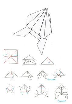 origami grenouille on pinterest origami origami fleur and origami facile. Black Bedroom Furniture Sets. Home Design Ideas