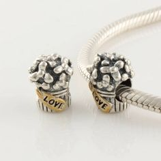 Pandora Gold and Silver Charms Beads 925 Sterling Silver FS029
