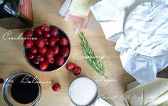 Baked Brie w/balsamic Rosemary cranberry sauce
