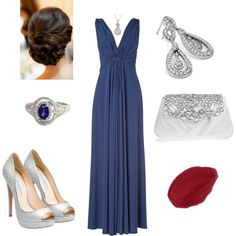 """""""Sapphires and Diamonds"""" by mortenson on Polyvore"""
