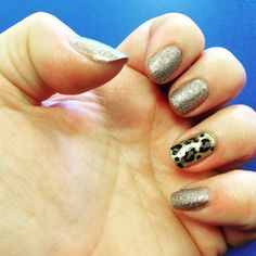 Brown glitter and leopard print