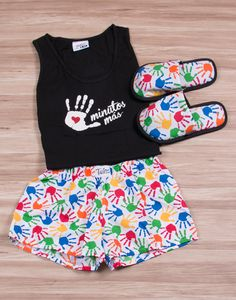 PIJAMA MUJER SLEEPWEAR WOMEN Cute Pjs, Cute Pajamas, Trendy Outfits, Kids Outfits, Cute Outfits, A Line Skirt Outfits, Pijamas Women, Pajama Outfits, Lounge Outfit
