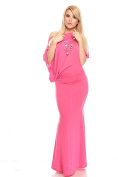 f7980525cfee fuchsia maxi dress#off shoulder maxi dress#maxi dress#long maxi dress#