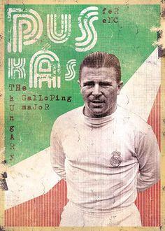 The Gods Of Football (Part II) by Marija Marković on Behance — Ferenc Puskás, Hungary God Of Football, Legends Football, Football Icon, Football Art, Football Design, World Football, Vintage Football, Soccer Pro, Soccer Memes