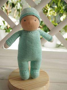 """Waldorf Baby Boy doll 8"""", soft baby doll, Waldorf baby doll, Waldorf boy doll, Waldorf pop, cloth doll, toddler gift"""