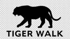 Tiger Silhouette - Walk