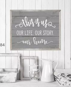 GORGEOUS! I want this print for our home. Love the farmhouse look, the saying, the style...everything! Large Rustic Market Print. #farmhouse #ad # walldecor #homedecor