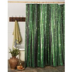 Kikkerland Shower Curtain Bamboo