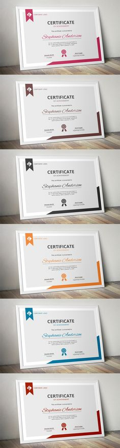 Modern MS Word certificate template. Stationery Templates. $5.00