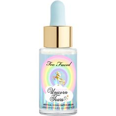 Unicorn Tears Mystical Liquid Highlighter Drops - Too Faced ($30) ❤ liked on Polyvore featuring beauty products, makeup, face makeup and too faced cosmetics