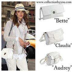 El blanco en la piel de nuestros bolsos nos sigue acompañando en septiembre. Diseña el tuyo personalizado www.collectionbyyou.com
