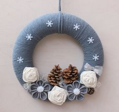""""" Christmas Wreath for Front Door, Christmas Decoration, Christmas Door Wreath, Christmas Wall Decoration, Christmas Front Door Decoration """" Guirnalda de Navidad para puerta principal Navidad por NESCHdecoration """" Crochet Christmas Wreath, Crochet Wreath, Crochet Christmas Decorations, Christmas Wreaths For Front Door, Valentine Day Wreaths, Xmas Wreaths, Christmas Crafts, Christmas Ornaments, Christmas Christmas"