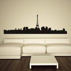 Paris Skyline Decorative Wall Art Stickers Wall Decal - People & Places