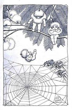 1ds00022721 Vintage Fairies, Vintage Art, Children's Book Illustration, Book Illustrations, Beautiful Bugs, Baby Tattoos, Australian Art, Elements Of Art, Magazine Art