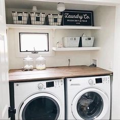 """837 Likes, 24 Comments - Lauren McBride (@laurmcbrideblog) on Instagram: """"Our little laundry room makeover is up on the blog today! I like that it's pretty AND functional,…"""""""