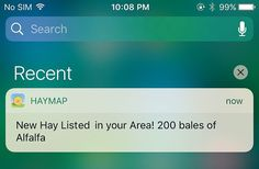 Signup for new hay alerts and view new local hay listings as they are posted.