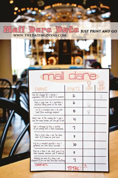 Use this free scorecard for a quick, easy, and hilarious date night.  Just print and go! www.TheDatingDivas.com #datenight #dateideas #free printable
