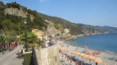 View of Monterosso Beach, Cinque Terre. Lenora Boyle, via Flickr
