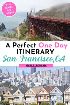 San Francisco: See the Top 5 Attractions in 5 Hours Visit California, California Travel, Canada Travel, Travel Usa, Travel Guides, Travel Tips, America And Canada, North America, San Francisco Travel