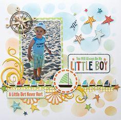 #papercraft #scrapbook #layout. My Little Boy {DT work for Scrapbook Challenges} - Scrapbook.com
