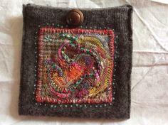 A pocket of secrets. Embellished and hand stitched. Ann Stephens