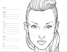 faces to use for croquis   Mônica Felix Make-up Artist:.: Face Charts - Croquis de Maquiagem