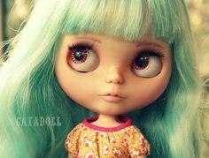 Custom Blythe Doll by Cayadoll Custom 7 Blue Hair by CayaDoll